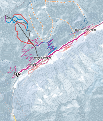 Karte / Auf der Talroute durch das Lötschental
