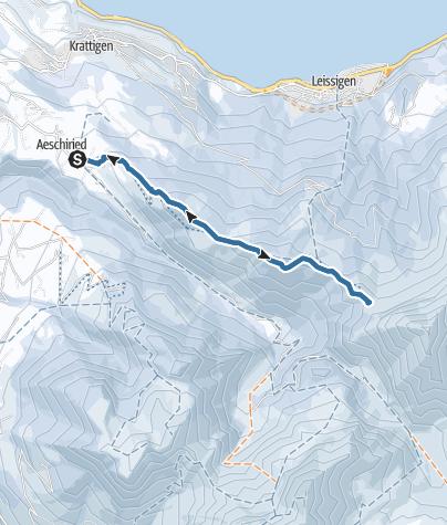Map / Von Aeschiried zur Brunnihütte