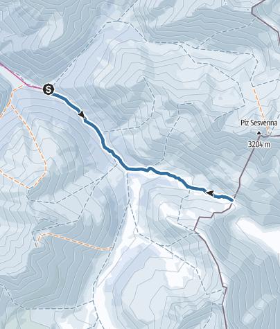Karte / Von Scuol ins Val S-charl