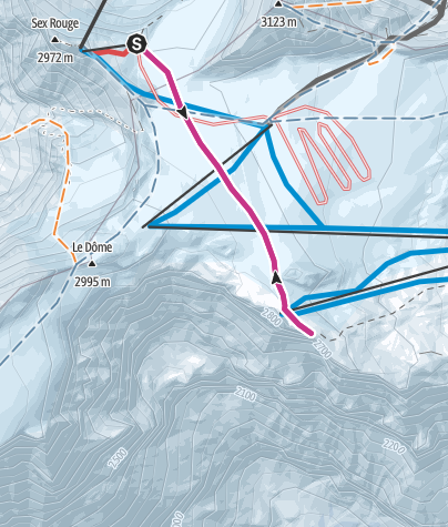 Map / Vom Col du Pillon auf den «Glacier Walk»