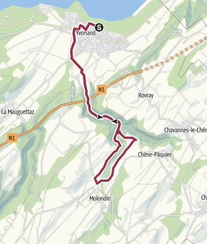 Map / Von Yvonand zum Tour St-Martin
