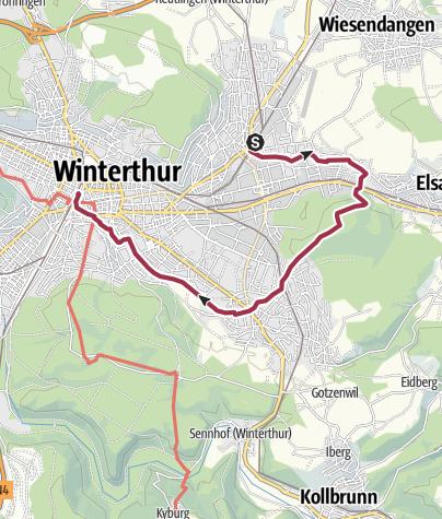 Mapa / Über den Hegiberg