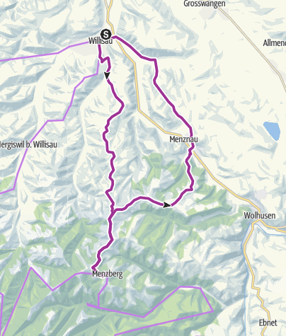 Carte / Boucle panoramique sur le Menzberg