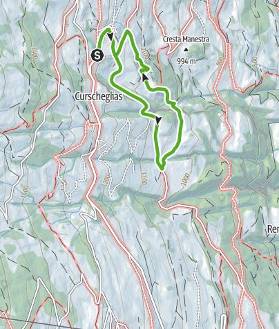 Karte / Erlebniswanderweg Tilla, Präz