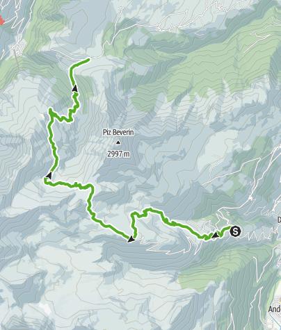 Karte / Via Capricorn: Wergenstein - Glaspass