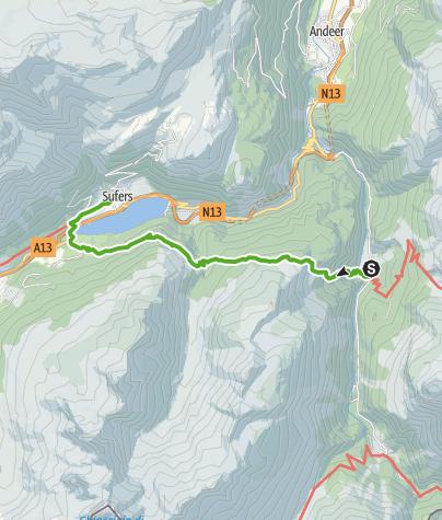 Karte / Alp Nursera und Schwarzwald