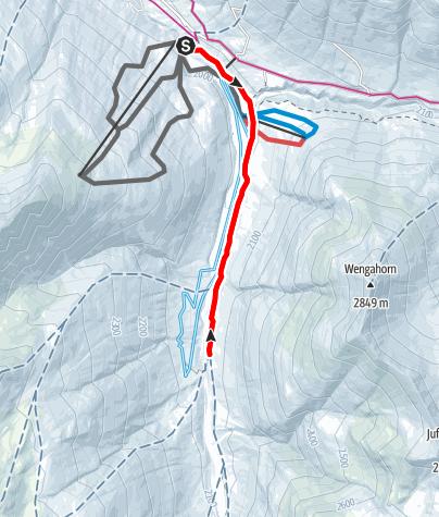 Karte / 371 Bergalga-Weg