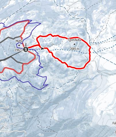 Karte / Panoramaweg (Feldis, Bergstation Sesselbahn)