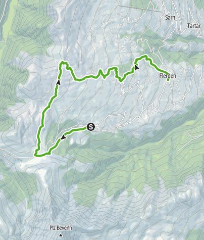 Karte / Heinzenberger Bergseen