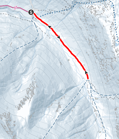 Karte / Avers-Juf - Jufer Alp - Avers-Juf