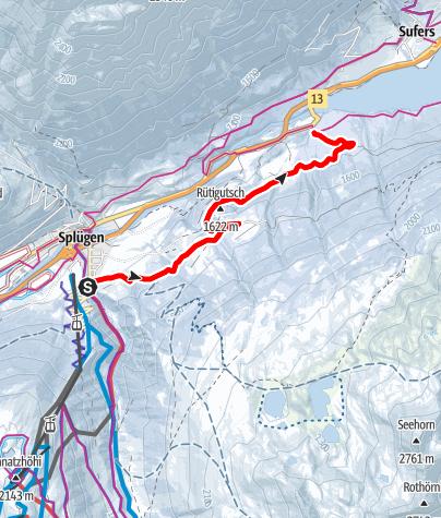 Karte / 591 Panell-Schneeschuhtrail