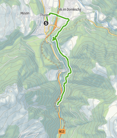 Karte / Thusis - Veia Traversina - Viamala Besucherzentrum