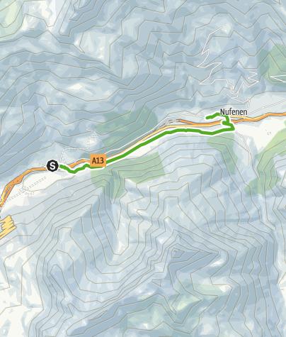 Karte / Rheinquellweg Wasser