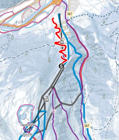 Karte / Schlittelbahn Splügen