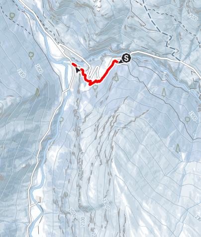 Karte / Schlittelweg Avers-Cröt