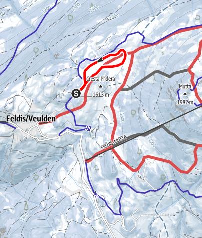 Karte / Feldiser Dorfloipe