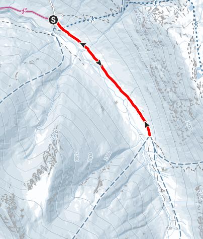 Karte / Langlaufloipe Avers-Juf