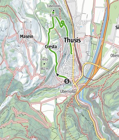 Karte / Thusner Spazierweg - Wo Reisende einst flanierten