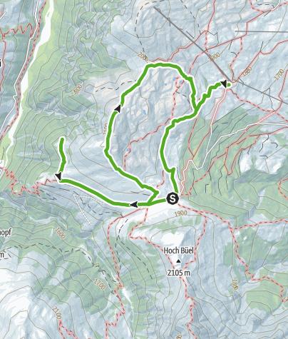 Karte / Ein Berg im Fluss, Glaspass