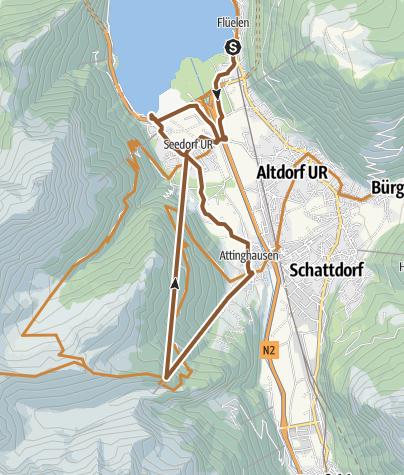 Carte / Auf dem Weg der Schweiz in Flüelen