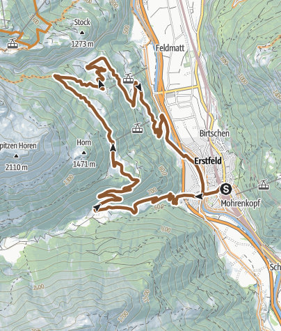 Karte / Erstfeldertal Bike - 405 SchweizMobil