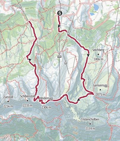 Map / Iltios - Chäserrugg - Sellamatt - Alt St. Johann