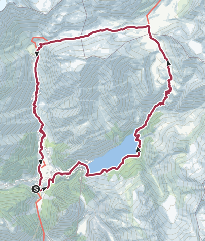 Map / The Greina Plateau and Arch