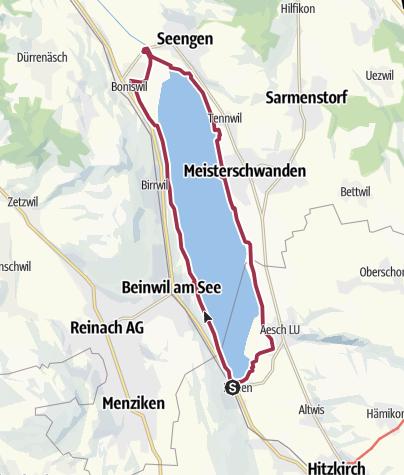 Carte / Sentier du lac de Hallwil