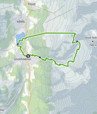 Karte / Alp Sanaspans - Rothorn