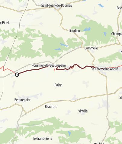 Karte / Jerusalemweg: Revel-Tourdan - Saint-André