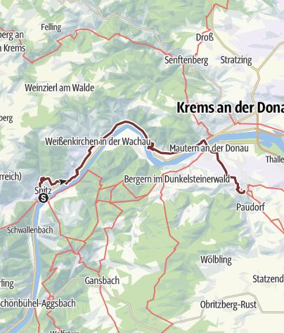 Karte / Jerusalemweg: Spitz - Stift Göttweig