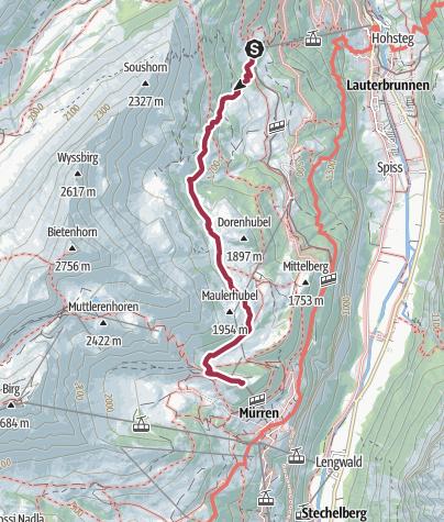 Karte / Mürren - Mountain view trail