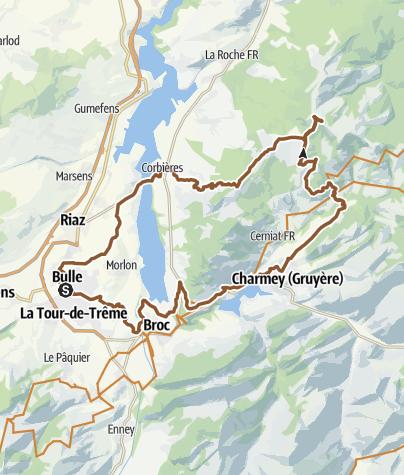 Karte / Vanil des Cours