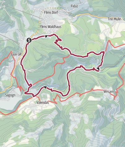 Staderas Conn Rhine Gorge RuinaultaStaderas Hiking Trail - Map of conn
