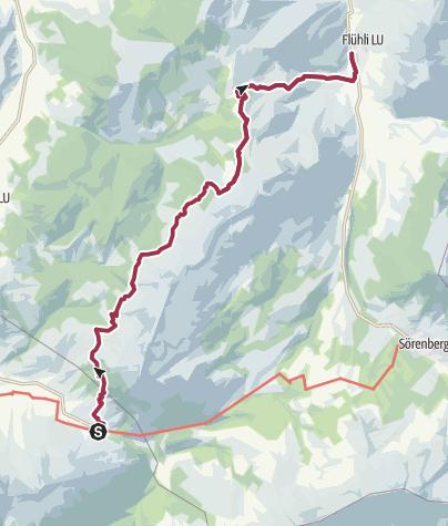 Karte / Moorlandschaftspfad: Hilferenpass
