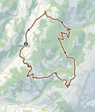 Karte / Marbacher Panoramarunde