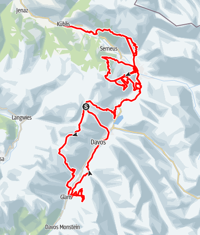 Map / Davos Klosters «Bahnen» Tour