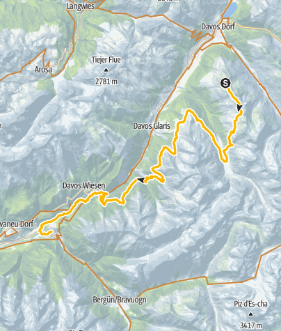 Map / Alps Epic Trail Davos