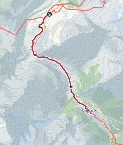 Map / ViaStockalper - Stockalperweg (Simplonpass - Simplon-Dorf)