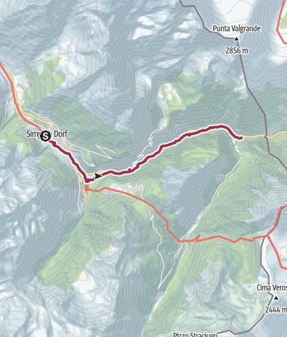 Map / ViaStockalper (Simplon-Dorf -Gondo)