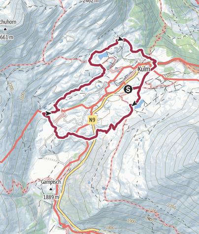 Map / Rundweg Bergalpe Simplon