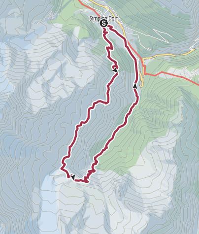 Map / Von Simplon Dorf zum Lagginbiwak SAC