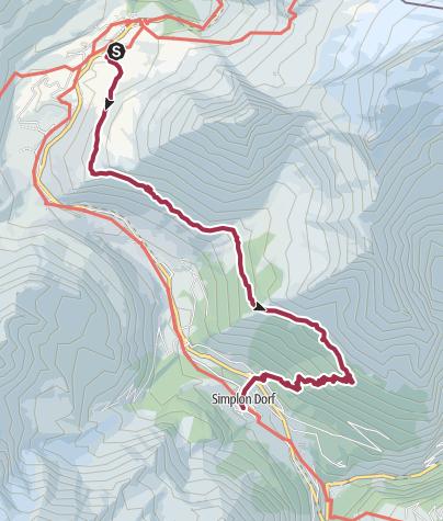 Karte / Simplon Höhenweg