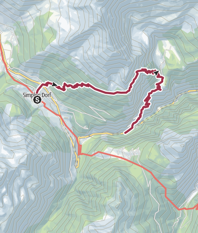 Map / Simplon Dorf - Alpjen - Gondoschlucht