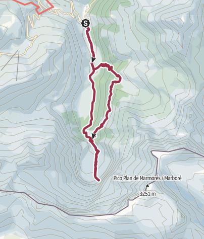 Map / Cirque du Gavarnie