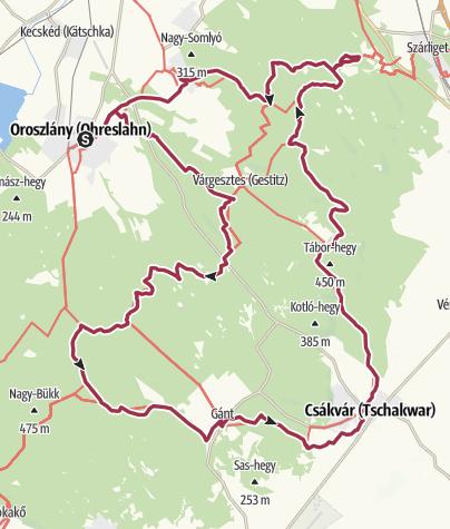 Térkép / Vérkör (Hetvenhét kilométer a Vértesben)