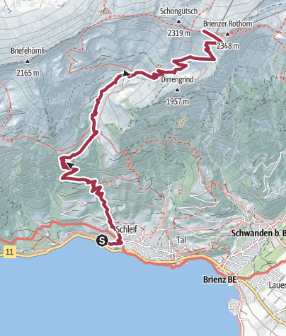 Map / Hike to the Brienzer Rothorn