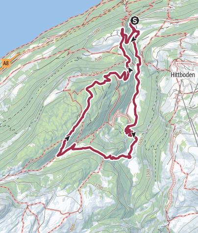 Map / Alp Botchen - Cultural Landscape Award 2014