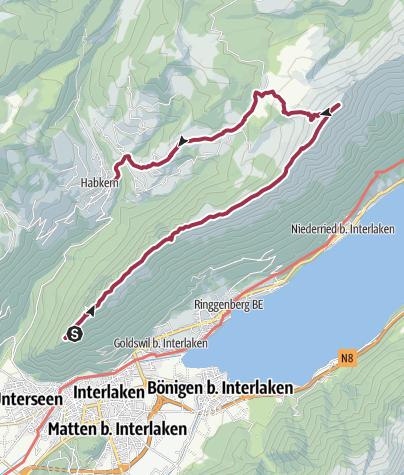 Karte / Zum Steinwild am Augstmatthorn