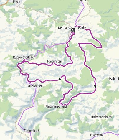 Karte / Die ganze Vielfalt der Frankenalb - Rad-Tour 06